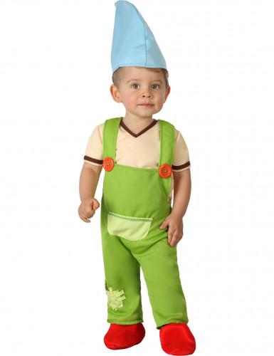 Groene kabouter kostuum voor baby's