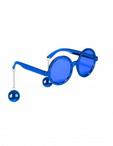 Blauwe disco bril voor volwassenen