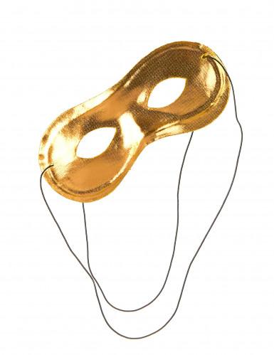 Metaal-goud masker voor volwassenen-1