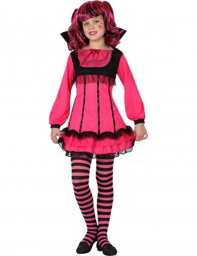 Roze vampier kostuum voor meisjes Halloween