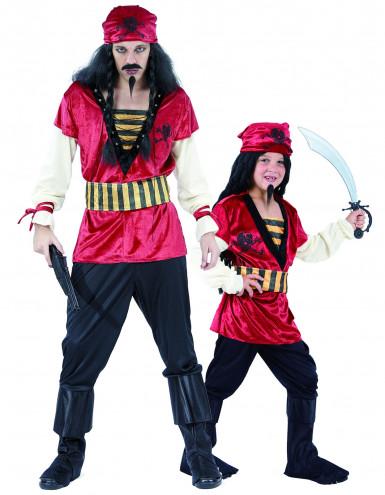 Piraten koppelkostuum vader en zoon
