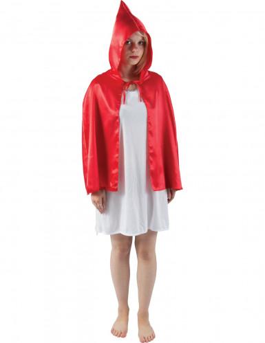 Rode minicape voor volwassenen