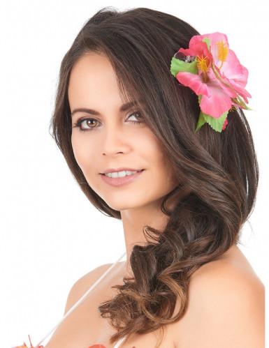 Roze hawaiiaanse haarspeld-1