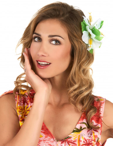 Wit hawaiiaanse haarspeld