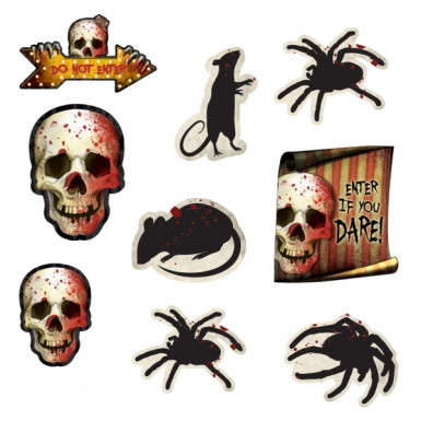 12 Halloween doodskop knipsel