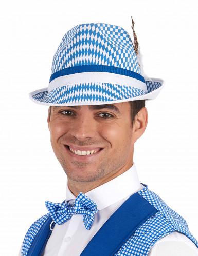 Blauw-wit Beierse hoed voor volwassenen-1