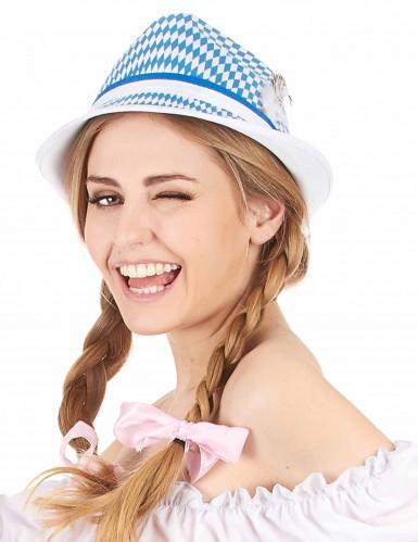 Blauw-wit Beierse hoed voor volwassenen-2