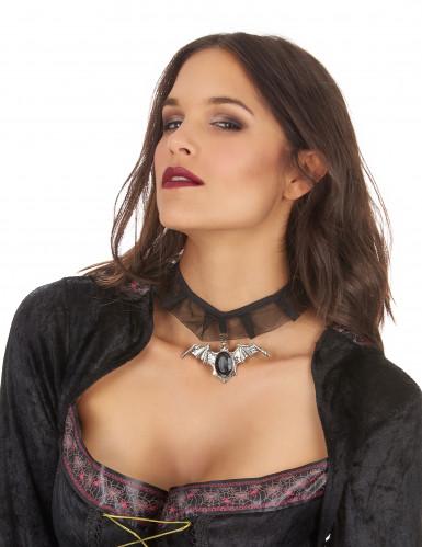 Halsband vleermuis voor volwassenen Halloween accessoire-1