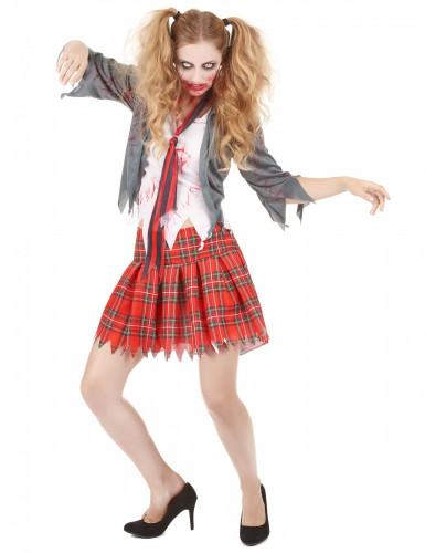 Bebloed Zombie schoolmeisje kostuum voor vrouwen
