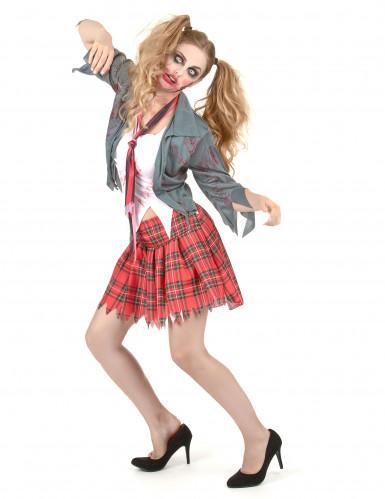 Bebloed Zombie schoolmeisje kostuum voor vrouwen-1