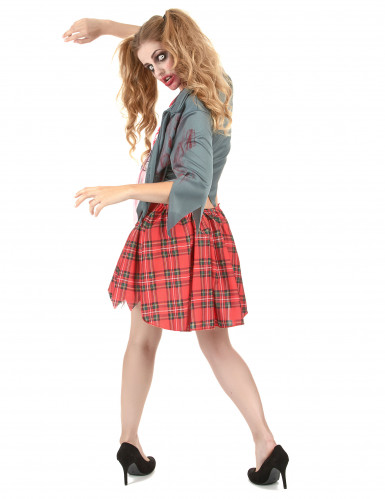 Bebloed Zombie schoolmeisje kostuum voor vrouwen-2