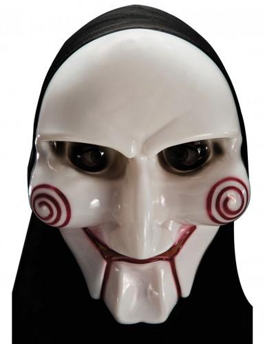 Psychopaat Halloween masker met kap
