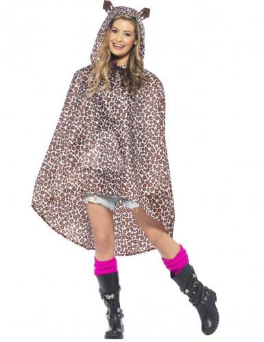 Luipaard poncho voor volwassenen