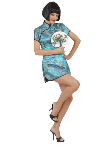 Blauw Chinese outfit voor dames
