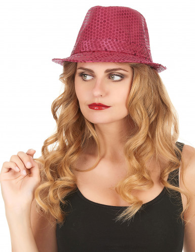 Fluo roze hoed voor volwassenen-1