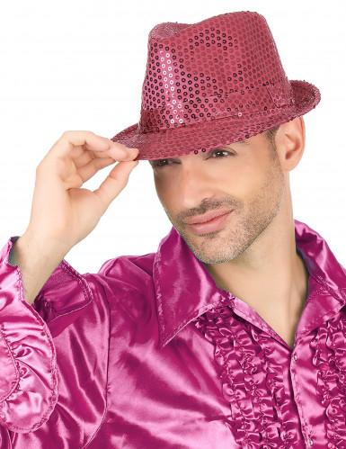 Fluo roze hoed voor volwassenen-2