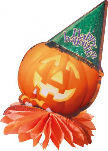 Middenstuk tafel pompoen Halloween decoratie