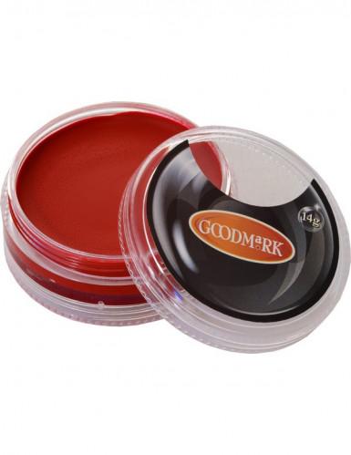 Rode schmink op waterbasis