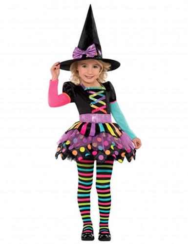 Verkleedkostuum voor meisjes kleur heks voor Halloween