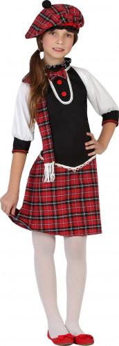 Schots meisje kostuum met baret
