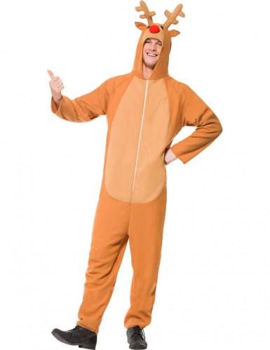 Onesie Rendier kostuum voor volwassenen