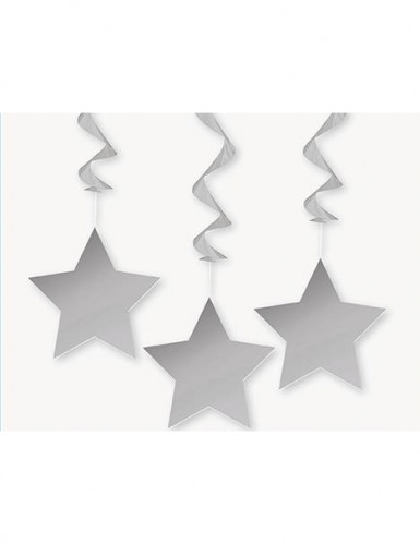 3 kerst versieringen van sterren