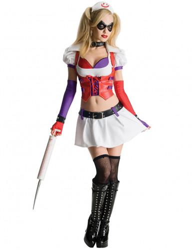 Harley Quinn verpleegster Arkham City™ kostuum voor vrouwen