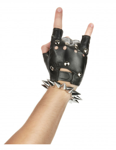 Zilverkleurig punk armband -1