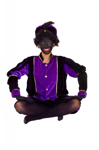 Paars Zwarte Piet kostuum voor volwassenen