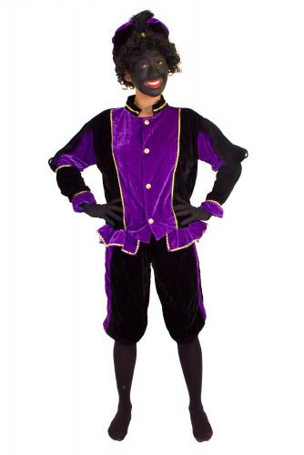 Paars Zwarte Piet kostuum voor volwassenen -1