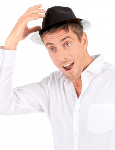 Zwart hoed met glitters voor volwassenen-2