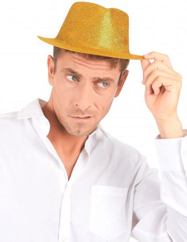 Hoed met goudkleurig glitters voor volwassenen -2