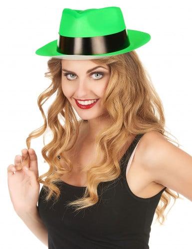 Groene gangster hoed voor volwassenen-1