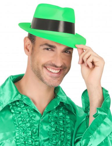 Groene gangster hoed voor volwassenen -2