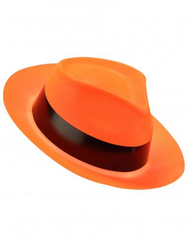 Fluorescerende oranje gangster hoed