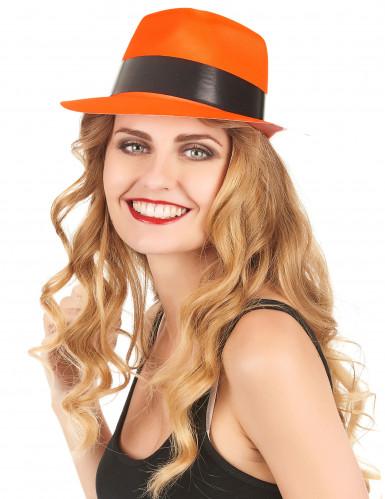 Fluorescerende oranje gangster hoed-1