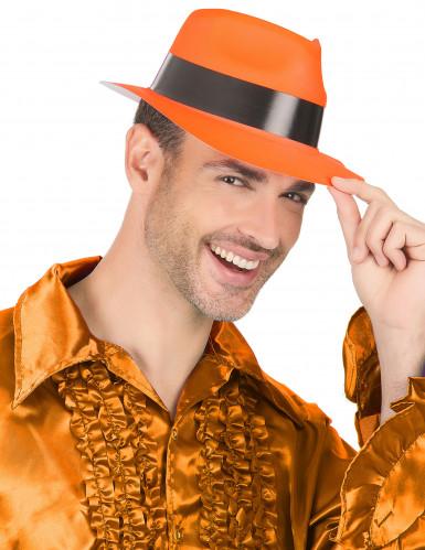 Fluorescerende oranje gangster hoed-2