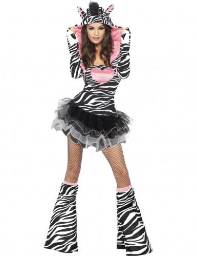 Sexy zebra tutu outfit voor vrouwen