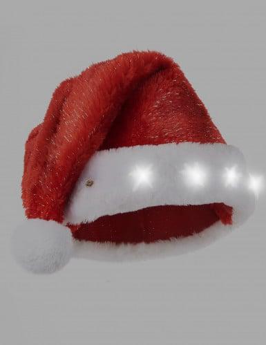Kerstmuts rood en lichtgevend-1