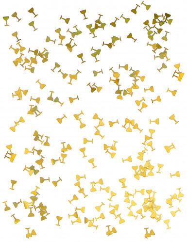 Tafelconfetti champagne glazen-1