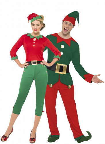 Koppel verkleedkostuum kerst elf - Disfraces de navidad originales ...
