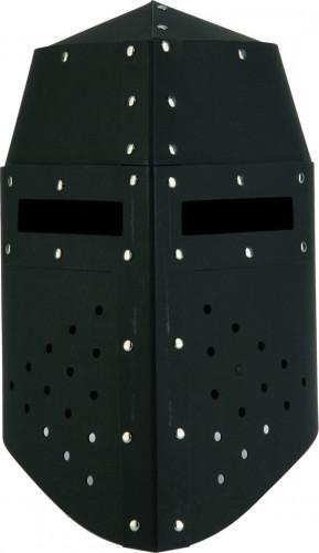 Gevechtshelm van zwart karton voor kinderen