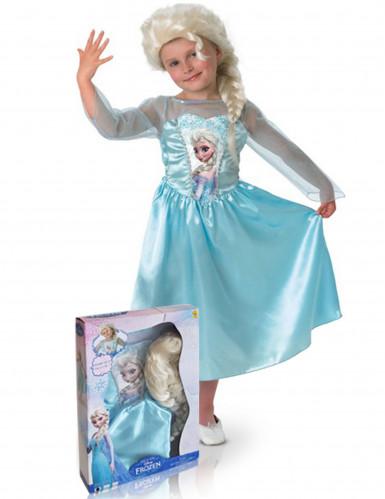 Verkleedkostuum Elsa Frozen™met pruik voor meisjes
