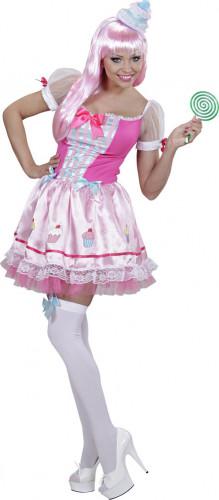 Candy cupcake kostuum voor dames