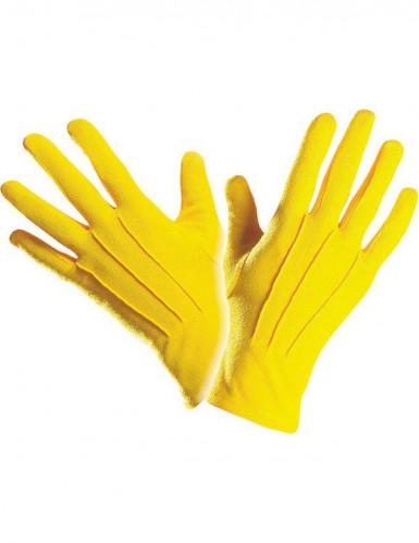 Korte gele handschoenen voor volwassenen-1