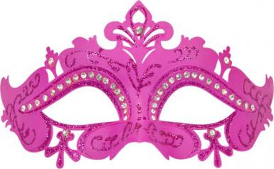 Roze Venetiaans strass masker voor volwassenen-1