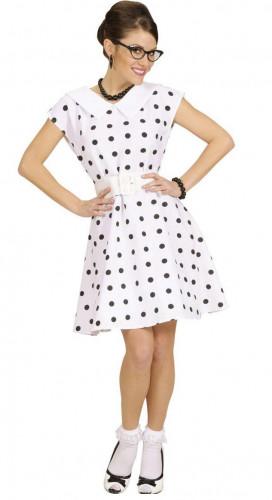 Witte jaren 50, retro jurk voor dames