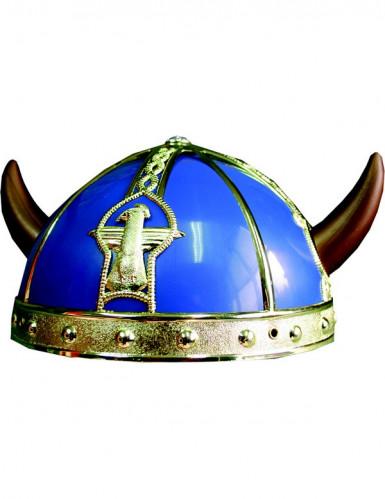 Blauw en goudkleurig Galliër helm voor kinderen