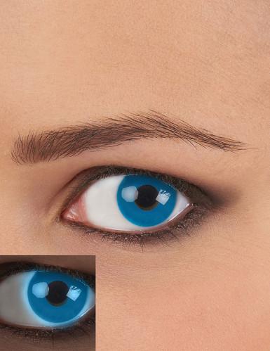 Blauwe UV contactlenzen