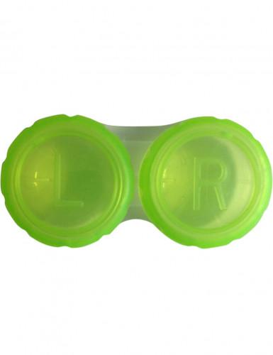 Groen contactlenzendoosje